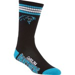 For Bare Feet Adults' Carolina Panthers 4-Stripe Deuce Socks