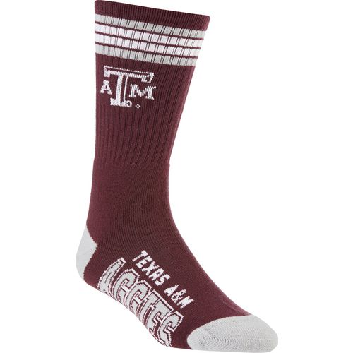 For Bare Feet Adults' Texas A&M University 4-Stripe Deuce Socks