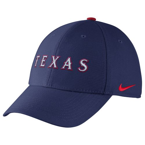 Nike™ Adults' Texas Rangers Classic Dri-FIT Swoosh Flex Cap - view number 1