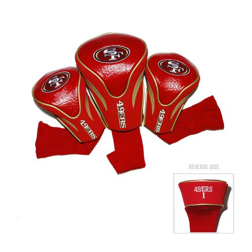 Team Golf San Francisco 49ers Contour Sock Head Covers 3-Pack