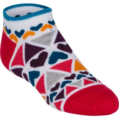 BCG™ Girls' Ultra Life Dazzling Shapes No-Show Socks
