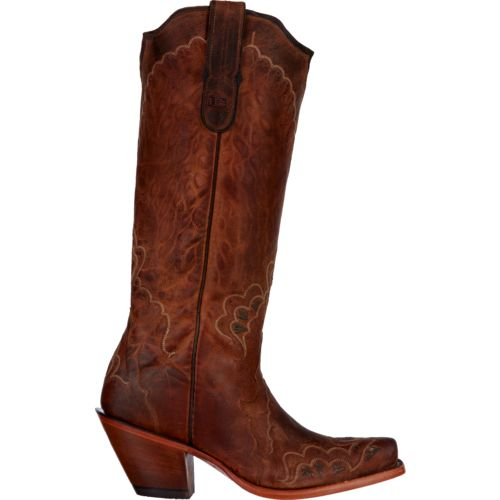 Tony Lama Women's Saigets Worn Goat Label Western Boots