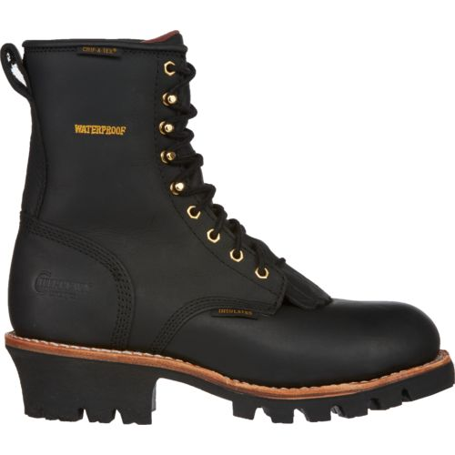 Chippewa Boots Men's Insulated Waterproof Steel-Toe Logger Rugged Outdoors Boots