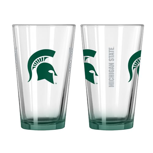 Boelter Brands Michigan State University Elite 16 oz. Pint Glasses 2-Pack