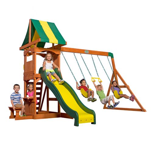 Backyard Discovery™ Weston Wooden Swing Set - view number 1