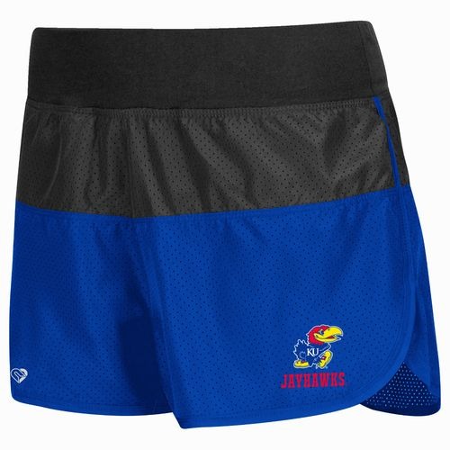 Colosseum Athletics Women's University of Kansas Triple Threat Compression Short