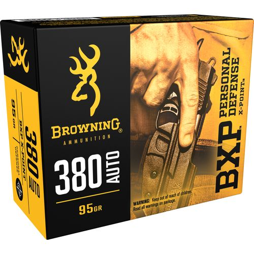 Browning Personal Defense .380 Caliber 95-Grain Pistol Ammunition - view number 1