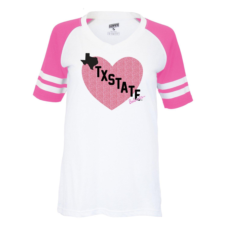 Soffe Girls' Texas State University Retro Football Jersey T-shirt