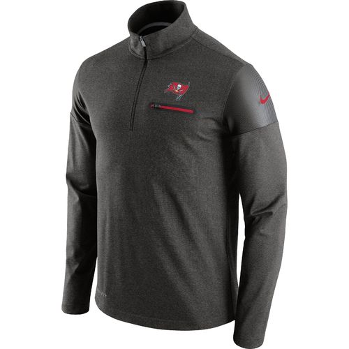 Nike Men's Tampa Bay Buccaneers Elite Coaches 1/2 Zip Top