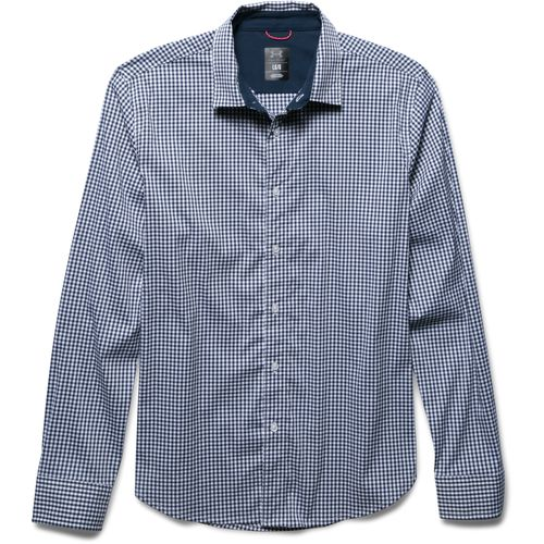 Under armour men 39 s performance woven long sleeve shirt for Academy under armour shirts