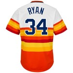 Majestic Men's Houston Astros Nolan Ryan #34 Cooperstown Cool Base 1986 Replica Jersey