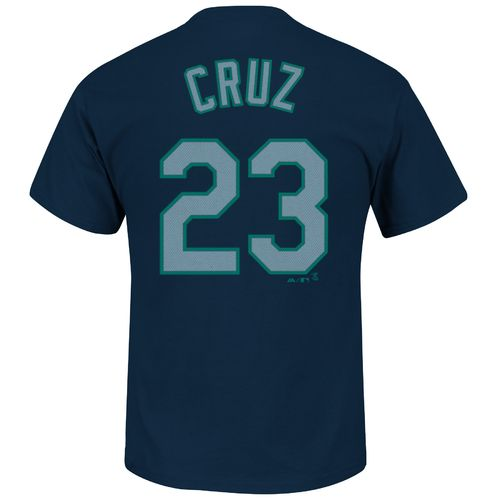 Majestic Men's Seattle Mariners Nelson Cruz #23 Wordmark T-shirt