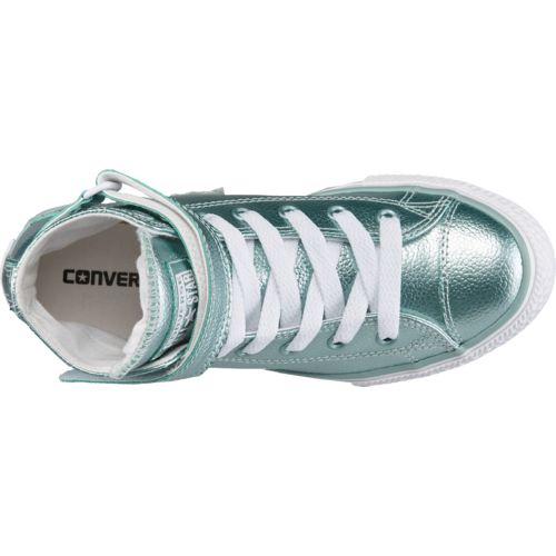 Converse Girls' Chuck Taylor All Star Stingray Metallic Brea High-Top Shoes - view number 4