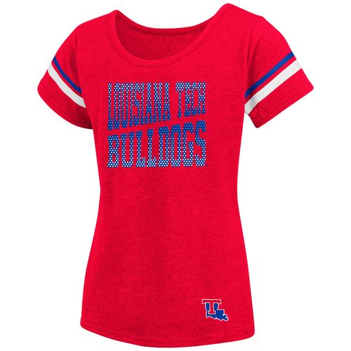 Colosseum Athletics™ Girls' Louisiana Tech University Fading Dot T-shirt