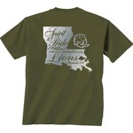 New World Graphics Women's Southeastern Louisiana University Silver State Distress T-shirt