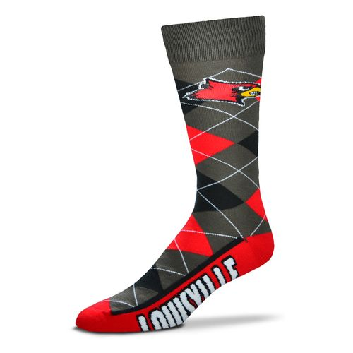 FBF Originals Adults' University of Louisville Team Pride Flag Top Dress Socks