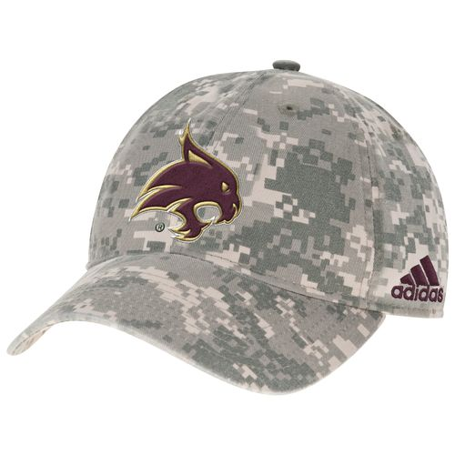 adidas™ Men's Texas State University Digital Camo Adjustable Slouch Cap
