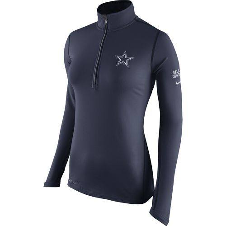 Nike Women's Dallas Cowboys Tailgate Element 1/2 Zip