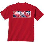 New World Graphics Women's University of Houston Madras T-shirt