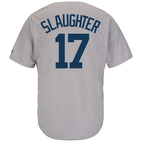 Discount Majestic Men's New York Yankees Enos Slaughter #17 Cool Base Cooperstown Jersey free shipping