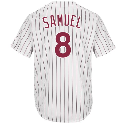Majestic Men's Philadelphia Phillies Juan Samuel #8 Cool Base Cooperstown Jersey - view number 2