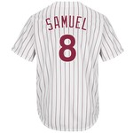 Majestic Men's Philadelphia Phillies Juan Samuel #8 Cool Base Cooperstown Jersey - view number 1