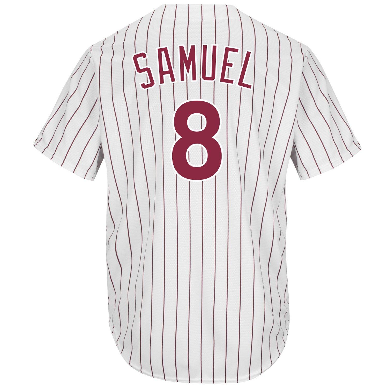 Majestic Men's Philadelphia Phillies Juan Samuel #8 Cool Base Cooperstown Jersey