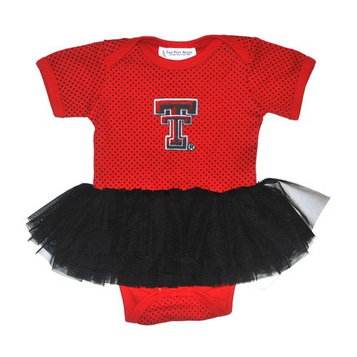 Two Feet Ahead Infant Girls' Texas Tech University Pin Dot Tutu Creeper