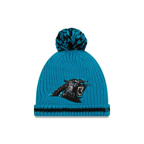 New Era Women's Carolina Panthers Sequin Frost Knit Cap