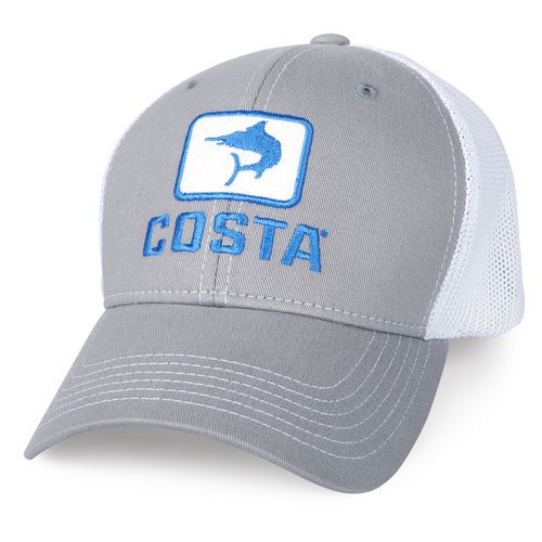 Costa del mar adults 39 fitted stretch mesh trucker hat for Mesh fishing hats