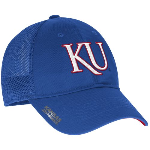adidas™ Men's University of Kansas Coach Flex Meshback Slope Cap