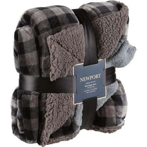 "Newport 50"" x 60"" Cloud Velvet Sherpa Throw"