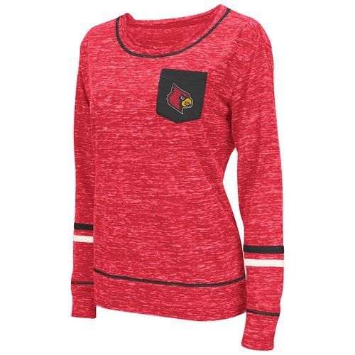 Colosseum Athletics™ Women's University of Louisville Homies Raw Edge Long Sleeve Shirt