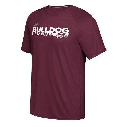 adidas Men's Mississippi State University Sideline Baseball Grind Ultimate T-shirt