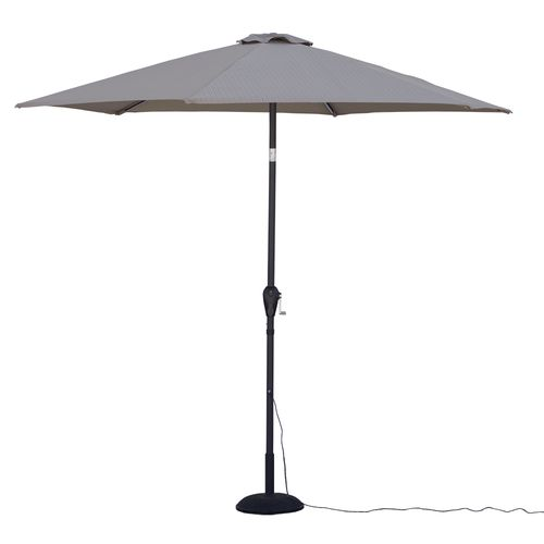 Quik Shade Ultra Brite Outdoor Cool Lighted Patio Umbrella