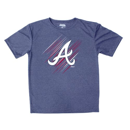 Stitches Boys' Atlanta Braves Sidewinder Short Sleeve T-shirt