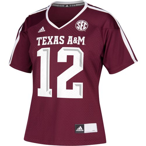 adidas Women's Texas A&M University Replica Football Jersey