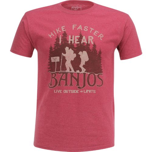 Display product reviews for Live Outside the Limits Men's I Hear Banjos T-shirt