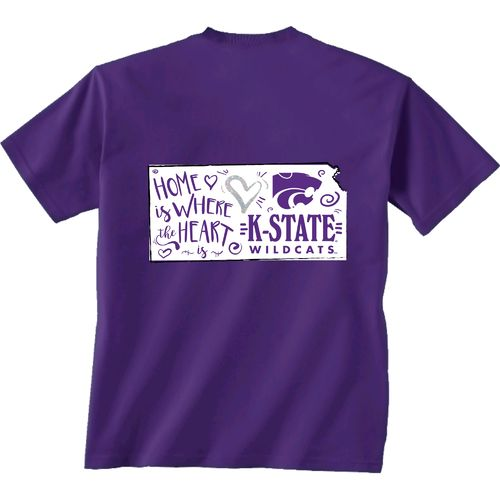 New World Graphics Girls' Kansas State University Where The Heart Is T-shirt