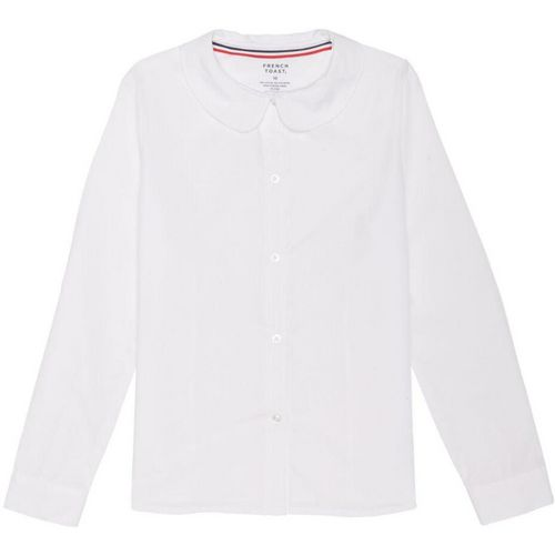 French Toast Girls' Long Sleeve Modern Peter Pan Uniform Blouse