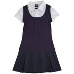 French Toast Toddler Girls' 2-in-1 Pleated Dress - view number 1