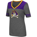 Colosseum Athletics Women's East Carolina University Twist V-neck 2.3 T-shirt - view number 1