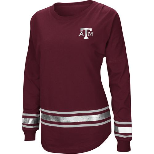 Colosseum Athletics Women's Texas A&M University Humperdinck Oversize Long Sleeve T-shirt