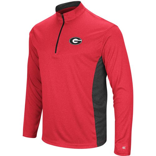 Colosseum Athletics Men's University of Georgia Audible 1/4 Zip Windshirt