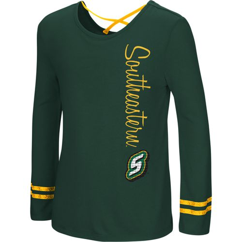 Colosseum Athletics Girls' Southeastern Louisiana University Marks the Spot Strappy Back Long Sleeve