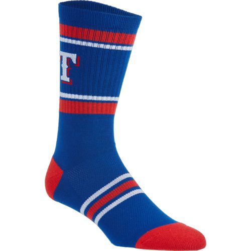 PKWY Men's Texas Rangers Crew Sock