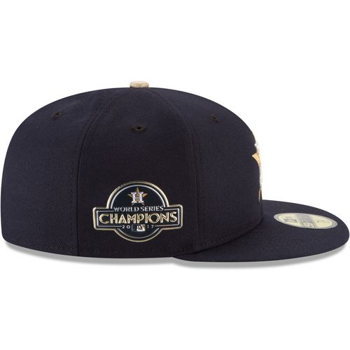 New Era Men's Houston Astros Gold Patch 59FIFTY Cap - view number 5