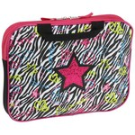 Reese & Kelly Girls' Colorful Zebra Laptop Case