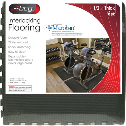 BCG™ Diamond Plate Fitness Flooring System 6-Pack