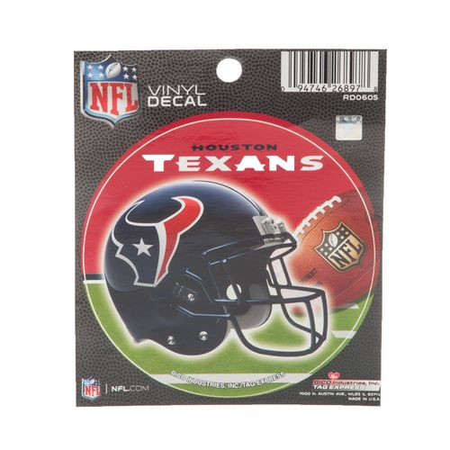 Image for Tag Express Houston Texans Vinyl Round Decal from Academy